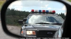 cop in rear mirror