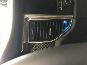 Custom K40 Hidden LEDs in Air Vent Installed on a 2017 Porsche Macan in Riverside CT