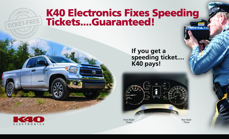 K40 radar detector Tundra truck