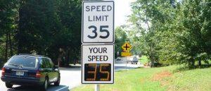 K40 radar speed sign