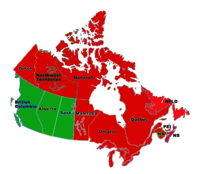 British Columbia Map | Radar Detector Laws