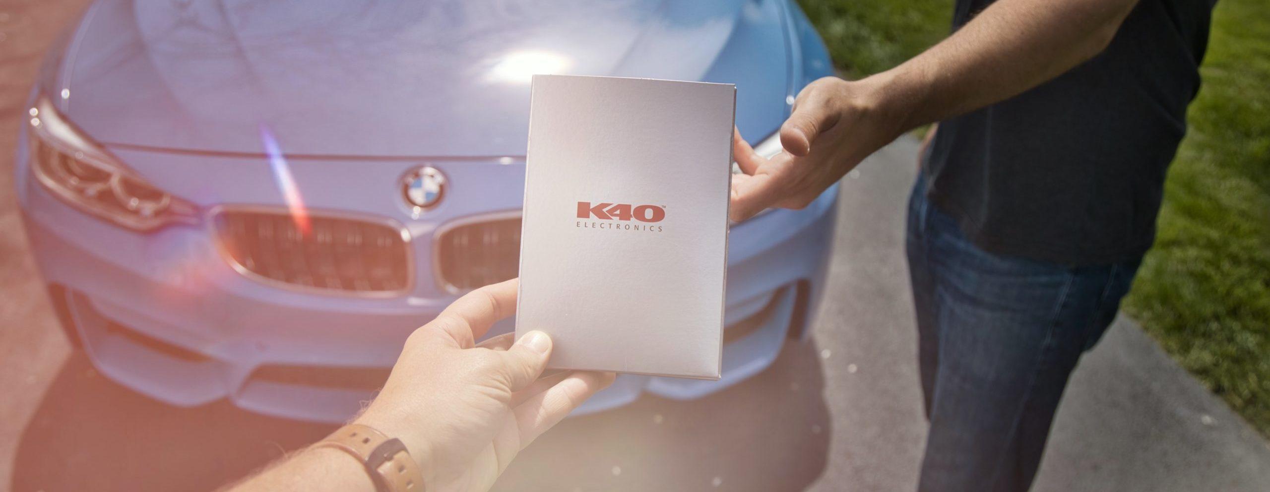K40 Electronics Radar Installation on a BMW M4