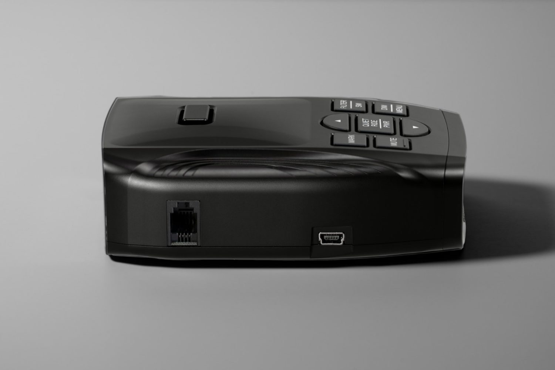 K40 Platinum100 radar detector usb side view